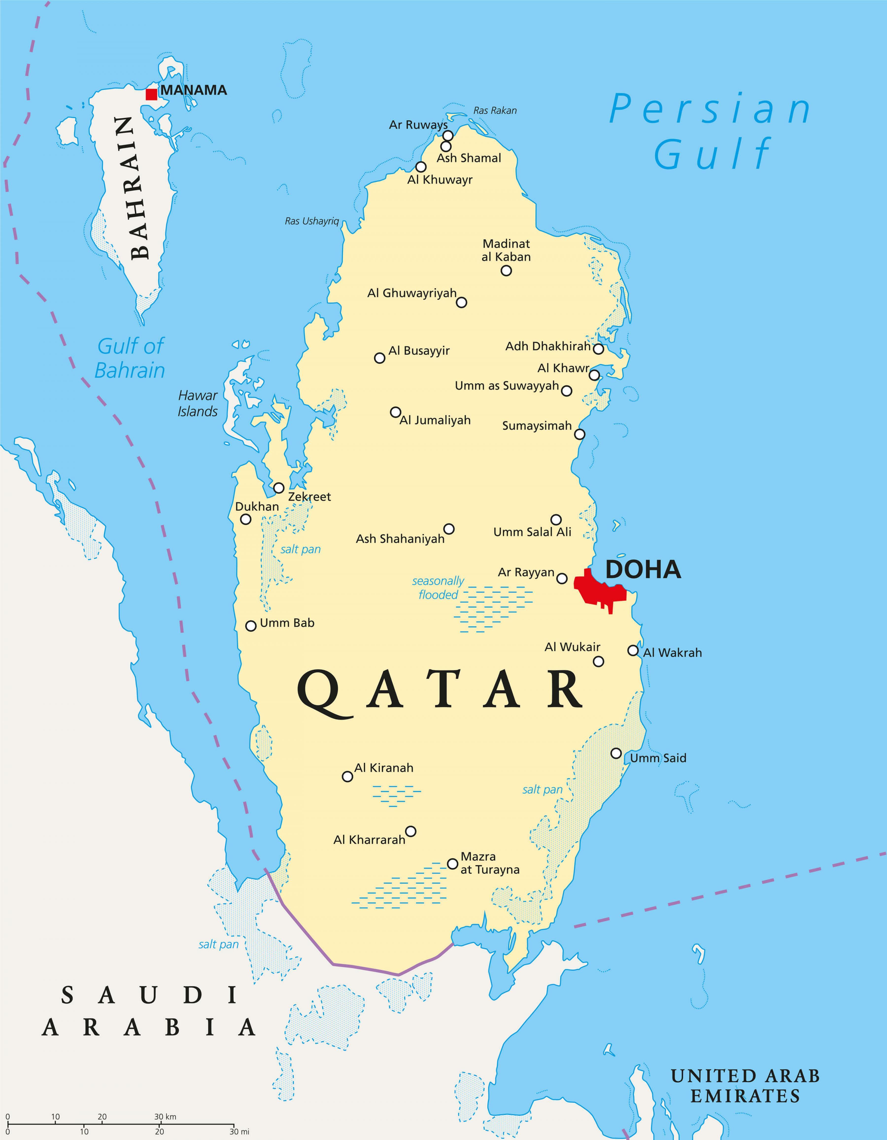 katar térkép Katar városok térkép   Katar térkép városok (Nyugat Ázsia   Asia) katar térkép