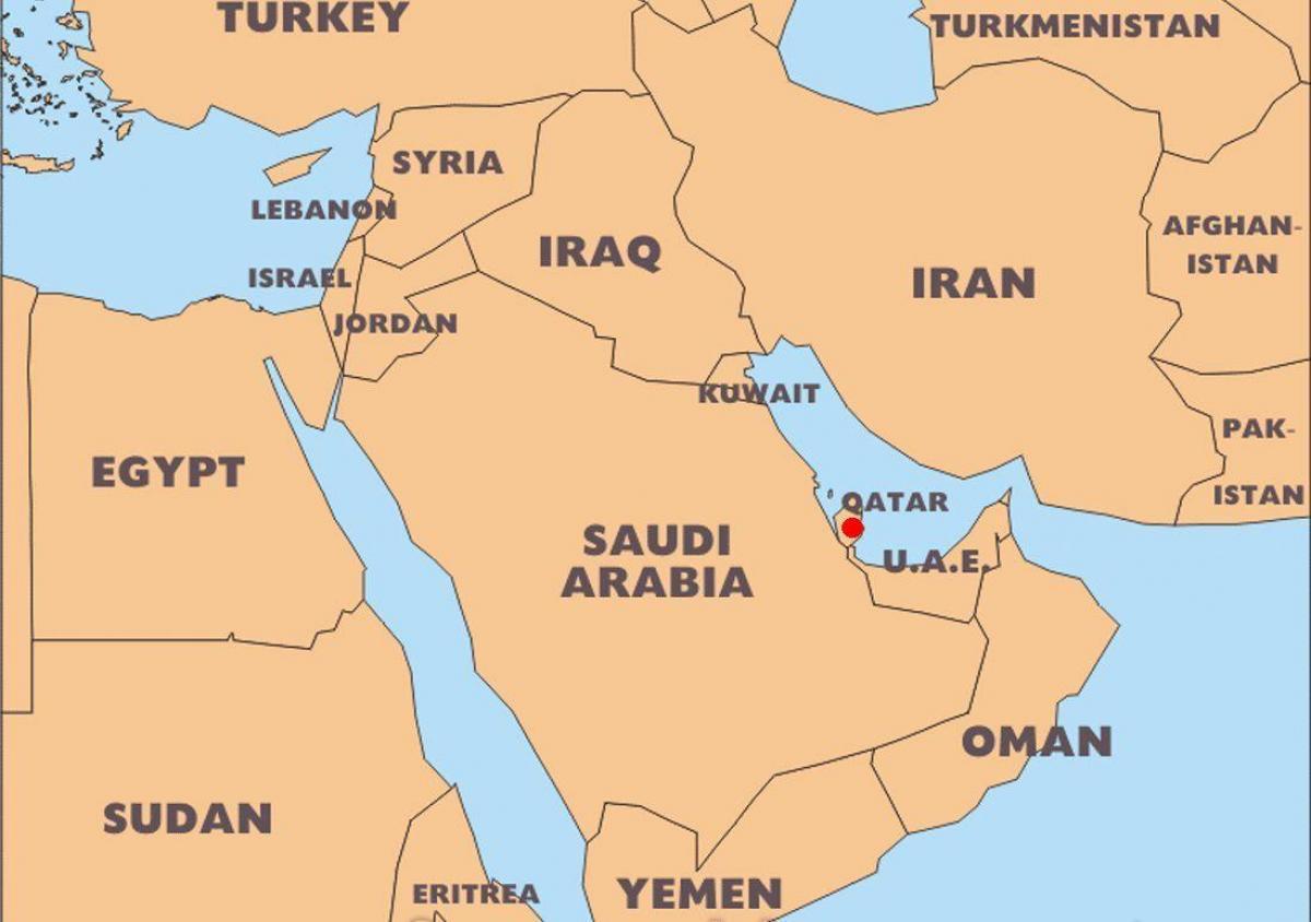katar térkép Katar térkép világ hely   Világ térkép katar elhelyezkedés a  katar térkép